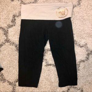 VS PINK black Cropped Leggings